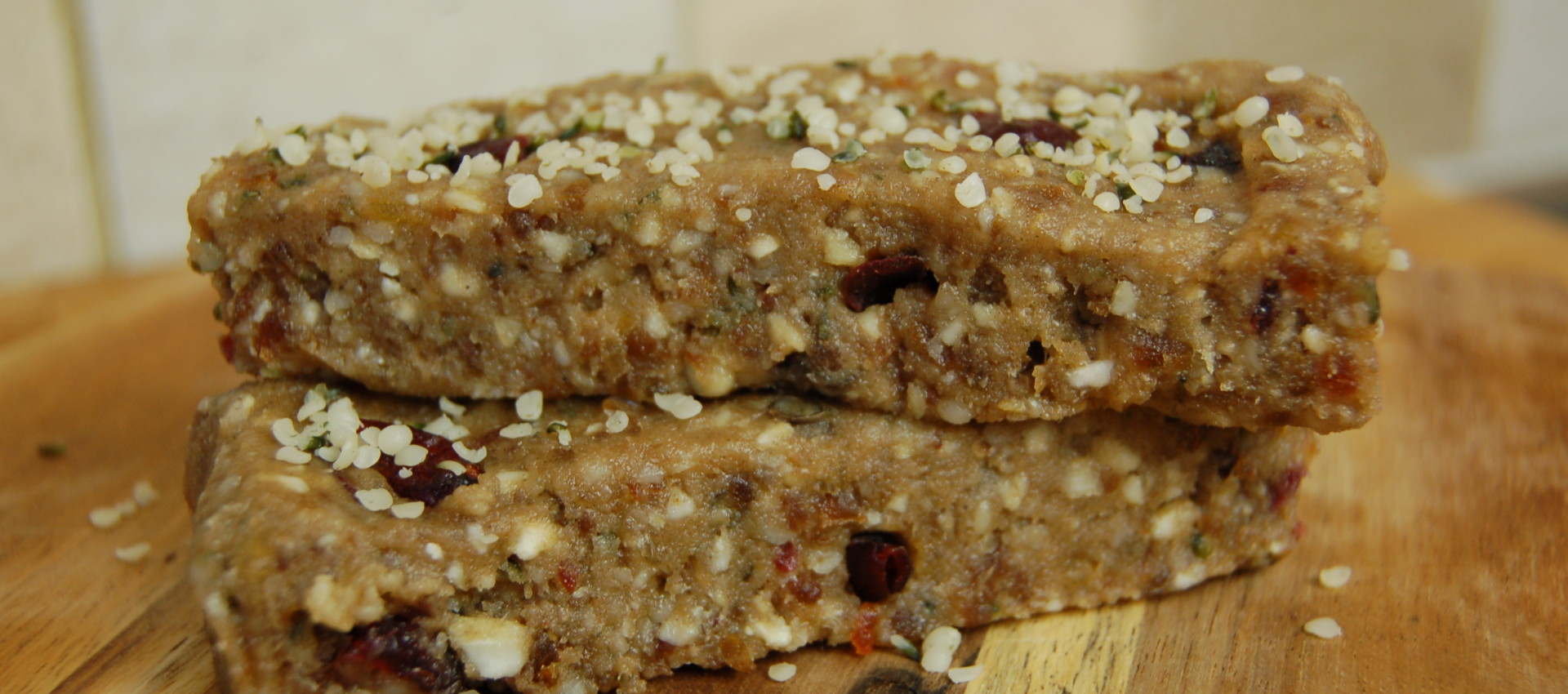 Cranberry cashew hemp raw vegan bars protein chef for Raw food bars uk